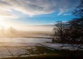 Frosty sunny winter morning in Scotland