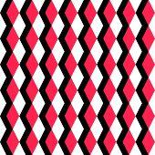 Seamless Red and Black Rhombus Pattern. Vector Regular Texture