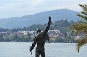 Switzerland, Montreux, Freddie Mercury, A Fragment Of The Monument On The Shore Of Lake Geneva