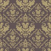 Floral Seamless  Pattern. Orient Abstract Background