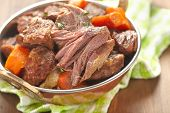 stock photo of stew  - Homemade Irish Beef Stew with Carrots and Potatoes - JPG