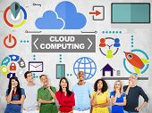 People Thinking Togetherness Global Communications Cloud Computing Concept