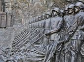 Bas-relief, Depicting Victory Parade On Red Square In 1945
