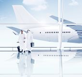 Airport Travel Business Middle Eastern Ethnicity Airplane Concept