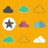 Cloud Storage Online Database Icon Vector Concept