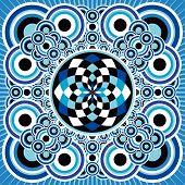 Vibrant blue design