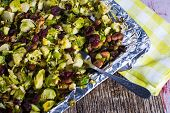 Broiled Brussel Sprouts With Almonds And Cranberries