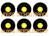 image of nu  - Vinyls with Different Electronic Music Genres 3 - JPG