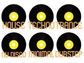 Постер, плакат: Electronic Music Genres Vinyl 3