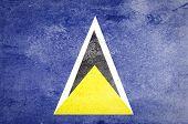 Grunge Saint Lucia Flag.