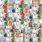 Euro banknotes background. The currency, money wallpaper.