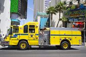 Clark County Fire Department Paramedic Truck on Las Vegas Strip