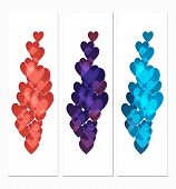 Vertical Banners With Hearts