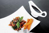 pic of soy sauce  - vegetable salad  - JPG