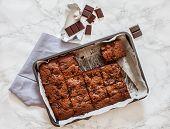 picture of brownie  - chocolate brownie - JPG