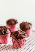 pic of chocolate muffin  - chocolate muffin - JPG