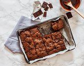 foto of brownie  - chocolate brownie - JPG