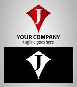 stock photo of letter j  - Letter J logo icon design template elements - JPG