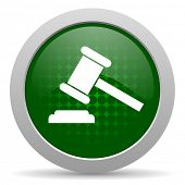stock photo of court hammer  - auction icon court sign verdict symbol  - JPG