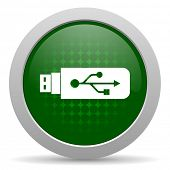 picture of flashing  - usb icon flash memory sign  - JPG