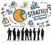 picture of strategy  - Strategy Development Goal Marketing Vision Planning Business Concept - JPG