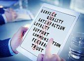 foto of scrabble  - Customer Service Quality Satisfaction Crossword Puzzle Concept - JPG