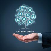 stock photo of customer relationship management  - Customer service concept - JPG