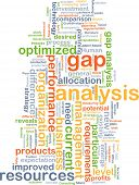 image of gap  - Background text pattern concept wordcloud illustration of gap analysis - JPG
