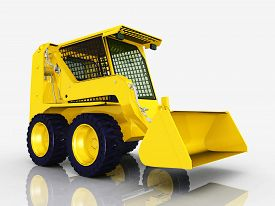 image of skid-steer  - Computer generated 3D illustration with a Skid - JPG