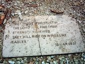 Rocky Path With Bible Quote Stone
