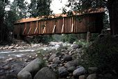 Yosemite Covered Bridge poster